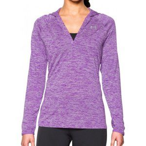 Under Armour Long Sleeve Hooded Henley Pullover L